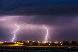 photo of lighting strike